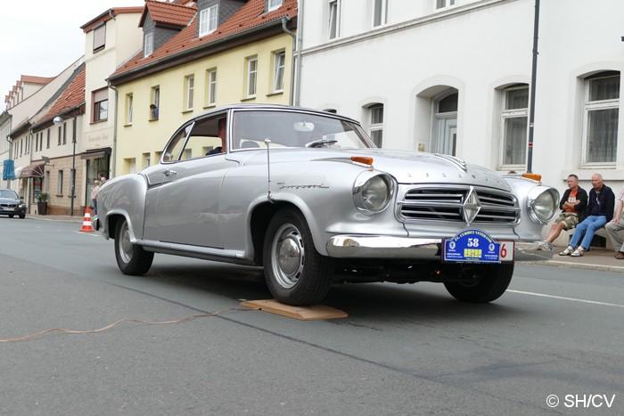 Bild: Durchfahrtskontrolle mit Spur- und Hupenbrett in Zörbig.