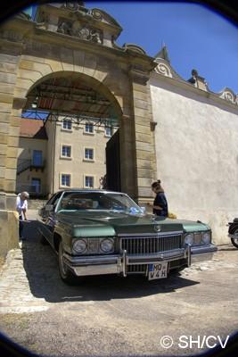 Bild: Eine Sonderprüfung musste im Schloß Bernburg absolviert werden: Seitliche Abstandsmessung